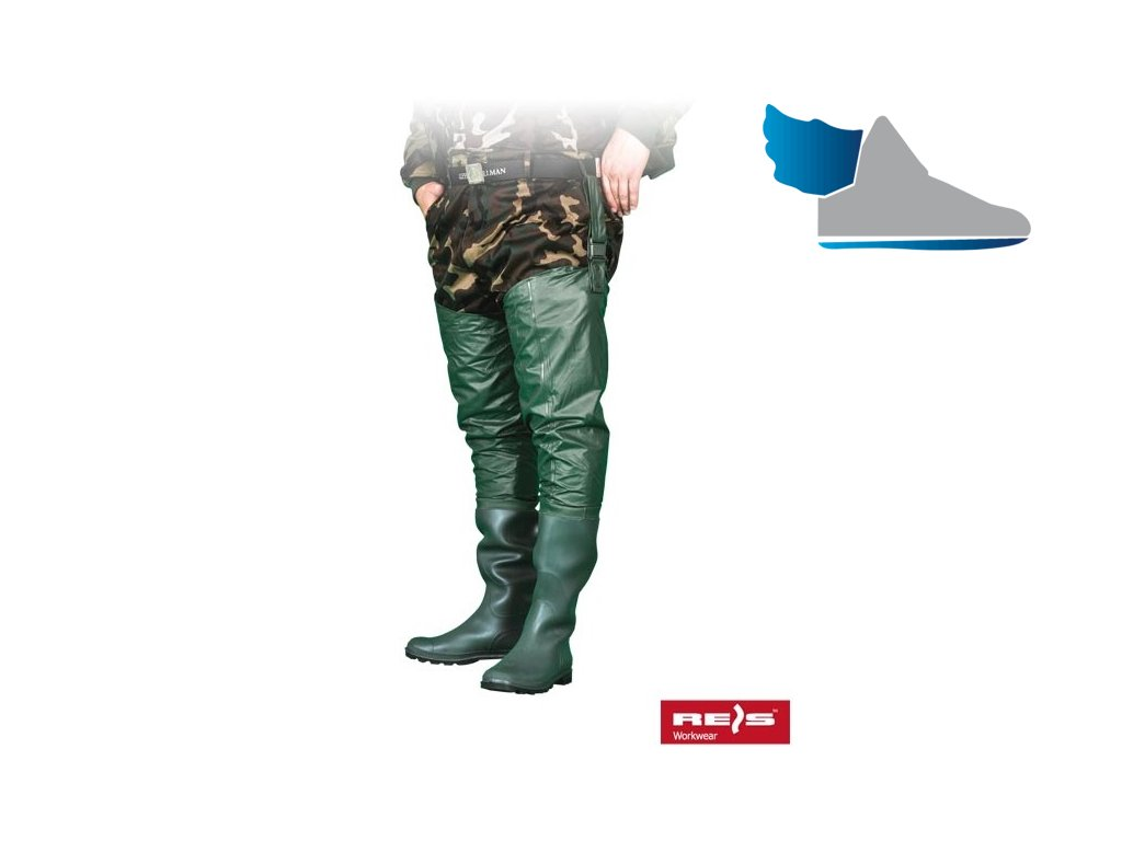 RW00-BGWOD Ochranná obuv s návlekmi pre rybárov