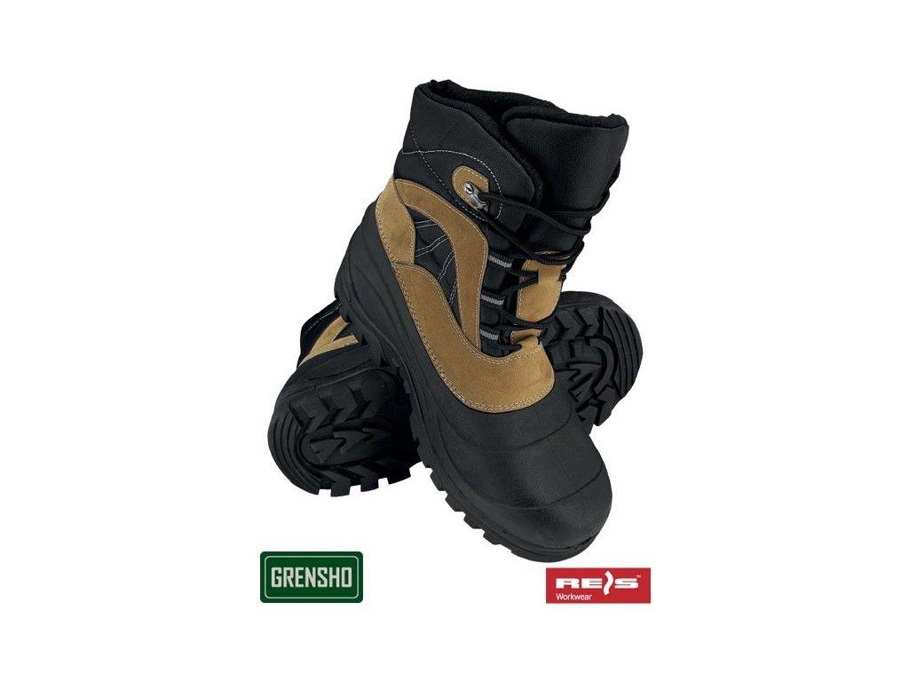 RW00-BSNOW-WOOD Zateplená obuv e048d4ed985