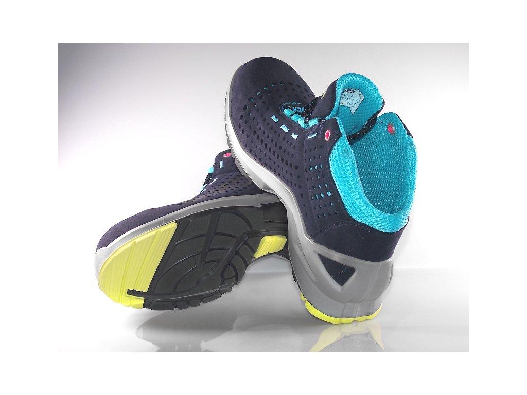 ... špičku pracovnej obuvi · Dámska pracovná obuv UVEX 8563 s pohľadom do  vnutra pracovnej obuvi ... e9fc663ca7a