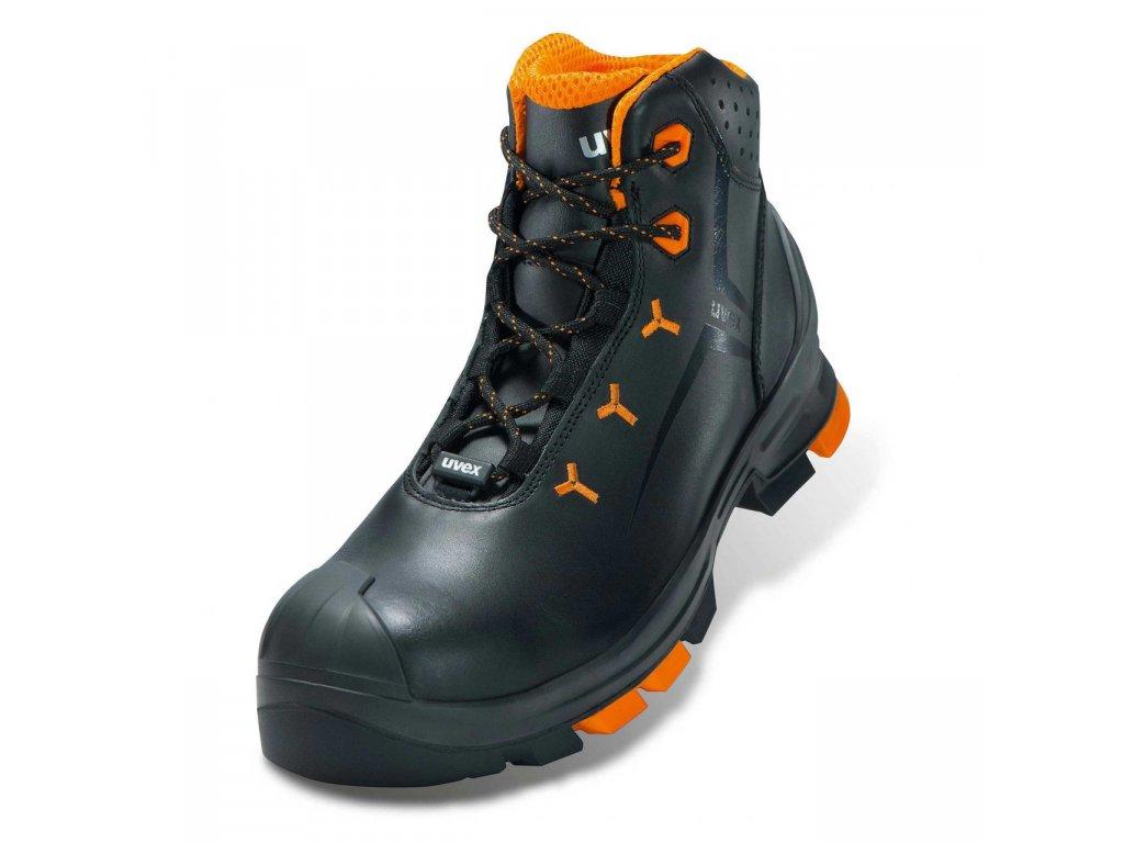 členková bezpečnostná obuv s plastovou špičkou uvex 2 S3 SRC lace up boot