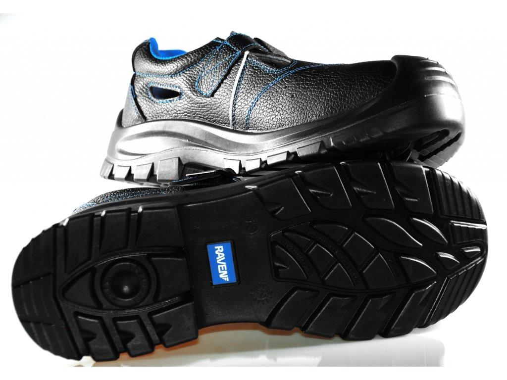 Bezpečnostné sandále s kovovou špičkou RAVEN XT S1 SRC 1a850a6181