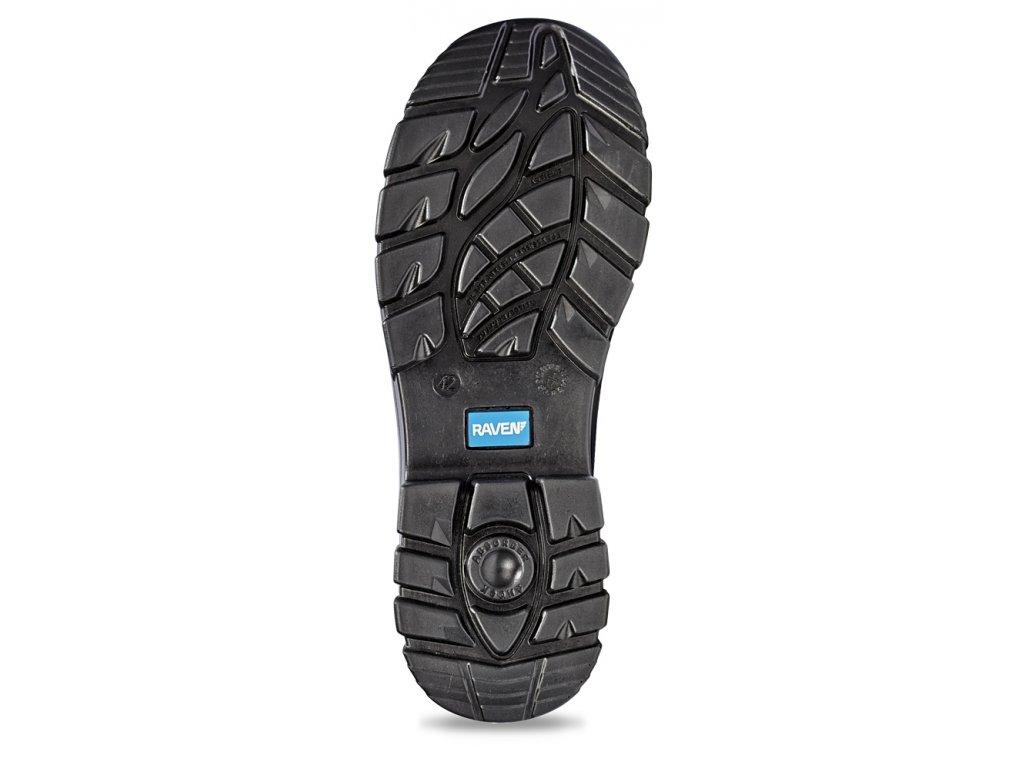... bezpečnostná členková obuv s kovovou špičkou RAVEN XT ANKLE S1 SRC  pohľad na podošvu ... c880e05d78