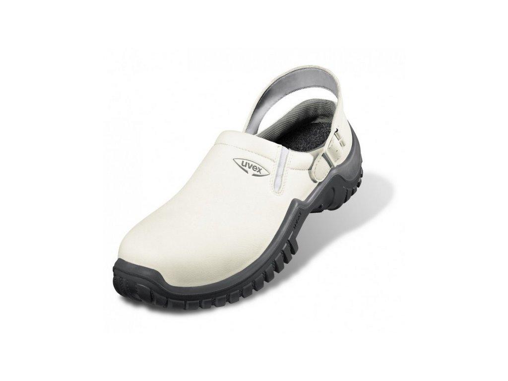 43710ce4b7 Moderná biela pracovná obuv - sandále UVEX XENOVA HYGIENE 6960 SB A E FO SRC  s remienkom