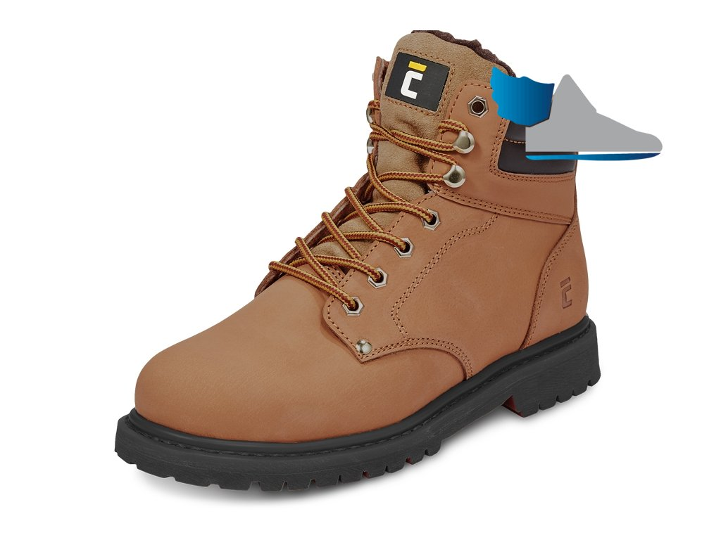 pracovná obuv hnedá farmarka