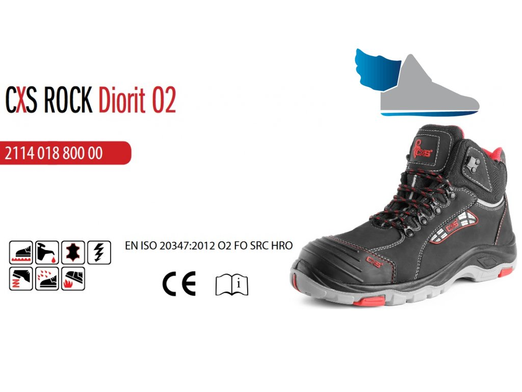 ... Pracovná obuv CXS ROCK DIORIT O2 ... 851e1a9ba5c