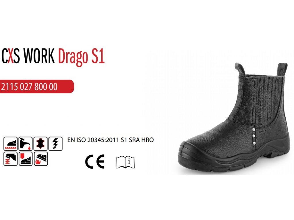 Pierko CXS Drago · Bezpečnostná obuv CXS WORK DRAGO S1 ... e002536a56