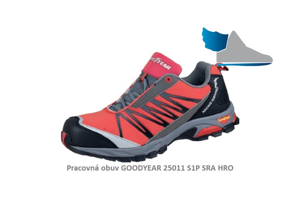 Bezpečnostná obuv s odľahčenou kompozitnou špičkou GOODYEAR 25011 S1P SRA HRO