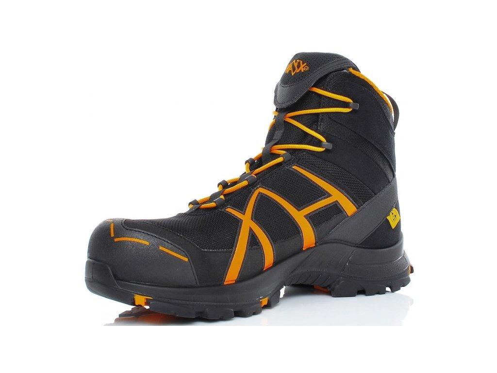 c44328155129 HAIX BLACK EAGLE SAFETY 40 MID BLACK ORANGE · Pracovná obuv HAIX členková  oranžovo čierna ...