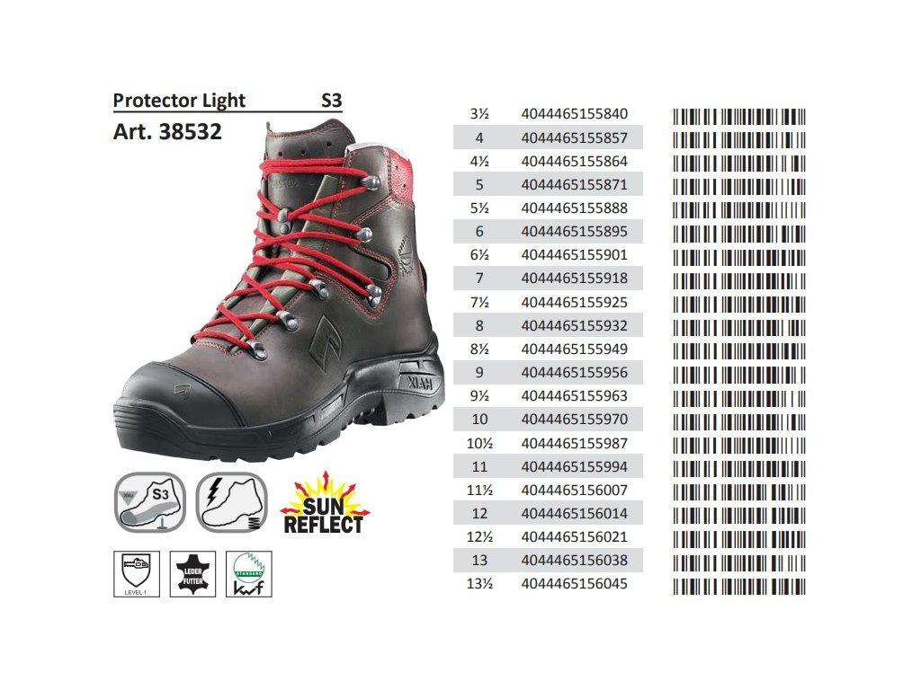 ... Protiporézna bezpečnostná obuv HAIX Protector Light 8 ... 62fcfd9fd5d