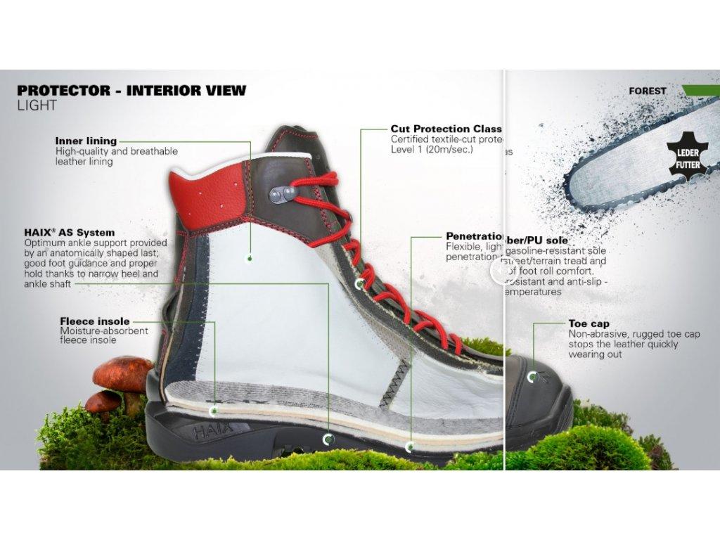 ... Protiporézna bezpečnostná obuv HAIX Protector Light 9 8b6eecf1af6