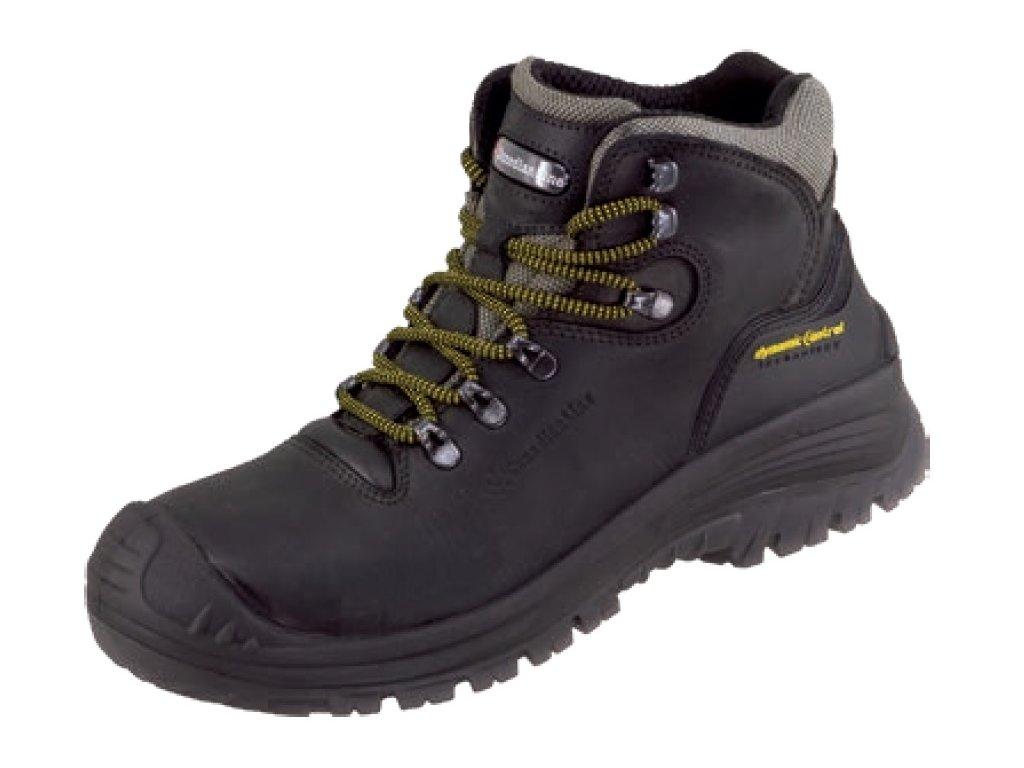 Bezpečnostná členková obuv s plastovou bezpečnostnou špičkou kategórie S3 značky CanadianLine model Stelvio