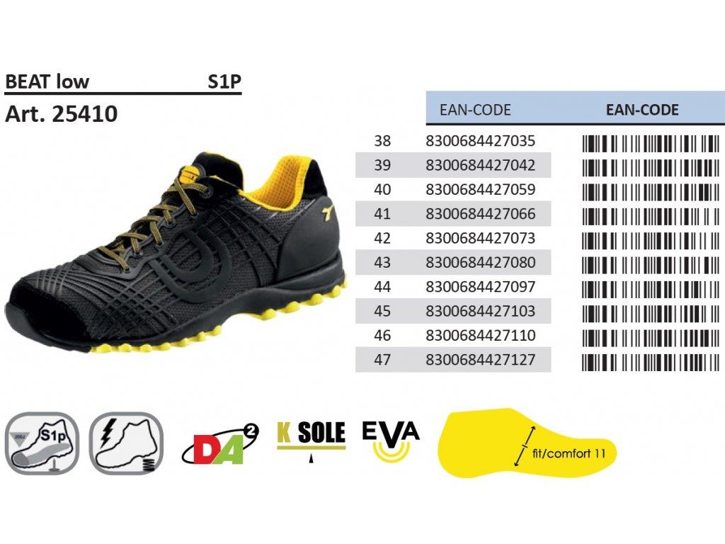 7d967b1af ... športová bezpečnostná obuv s hliníkovou špičkou Diadora Beat low s  podrobným popisom