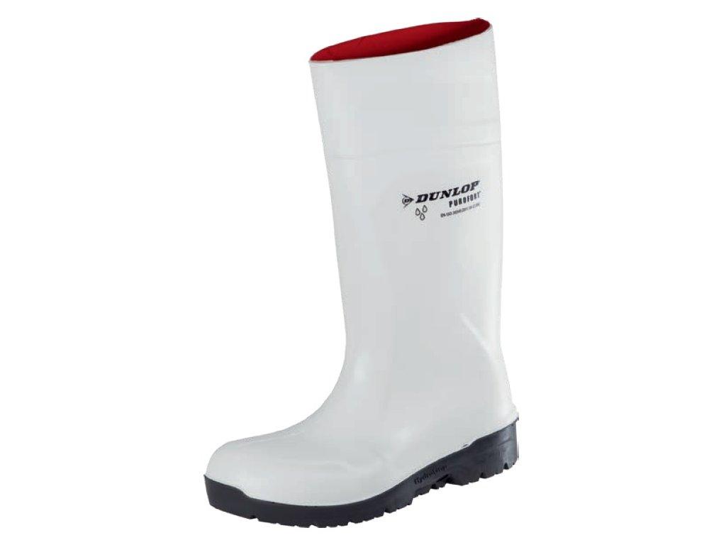 Biele bezpečnostné čižmy S4 DUNLOP Purofort Hydrogrip CB71431