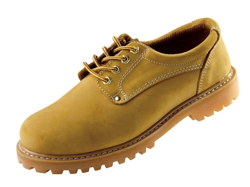 """Pracovná obuv """"farmárka"""" s gumovou podrážkou rezistentnou voči olejom a zvrškom z kože CRV BLACK KNIGHT HONEY LOW"""