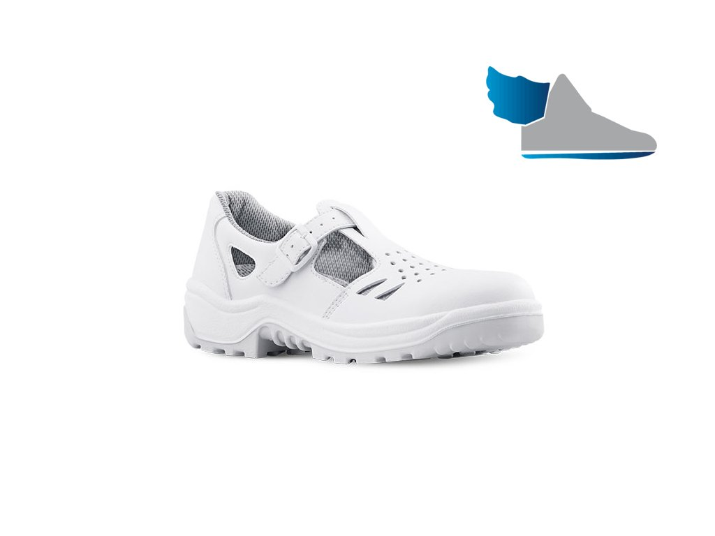 2991ab748b30 Biele pracovné sandále s oceľovou špičkou ARMEN 900 CLIP 1010 S1 SRC