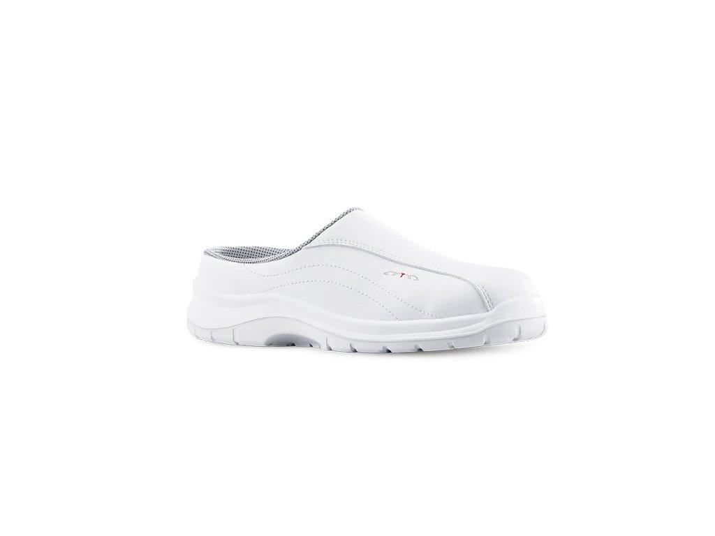 Biele pracovné sandále bez oceľovej špičky a protišmykovou podrážkou  ARTA 600 1010 OB A E FO SRC