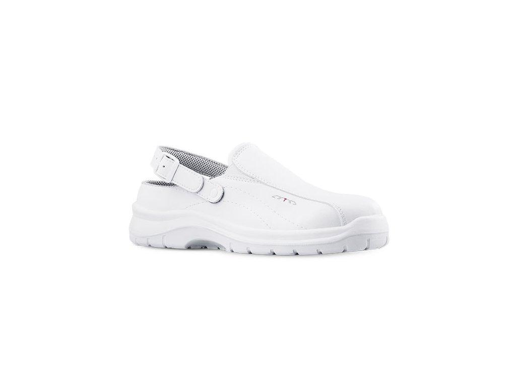 Biele bezpečnostné sandále s oceľovou špičkou ARVA 601 1010 SB A E FO SRC