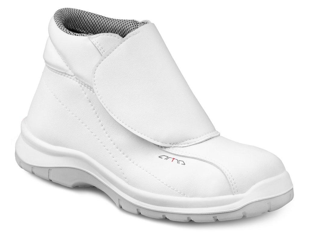 Biela členková pracovná obuv bez oceľovej špičky ARIKAR 640 1010 O2 FO SRC