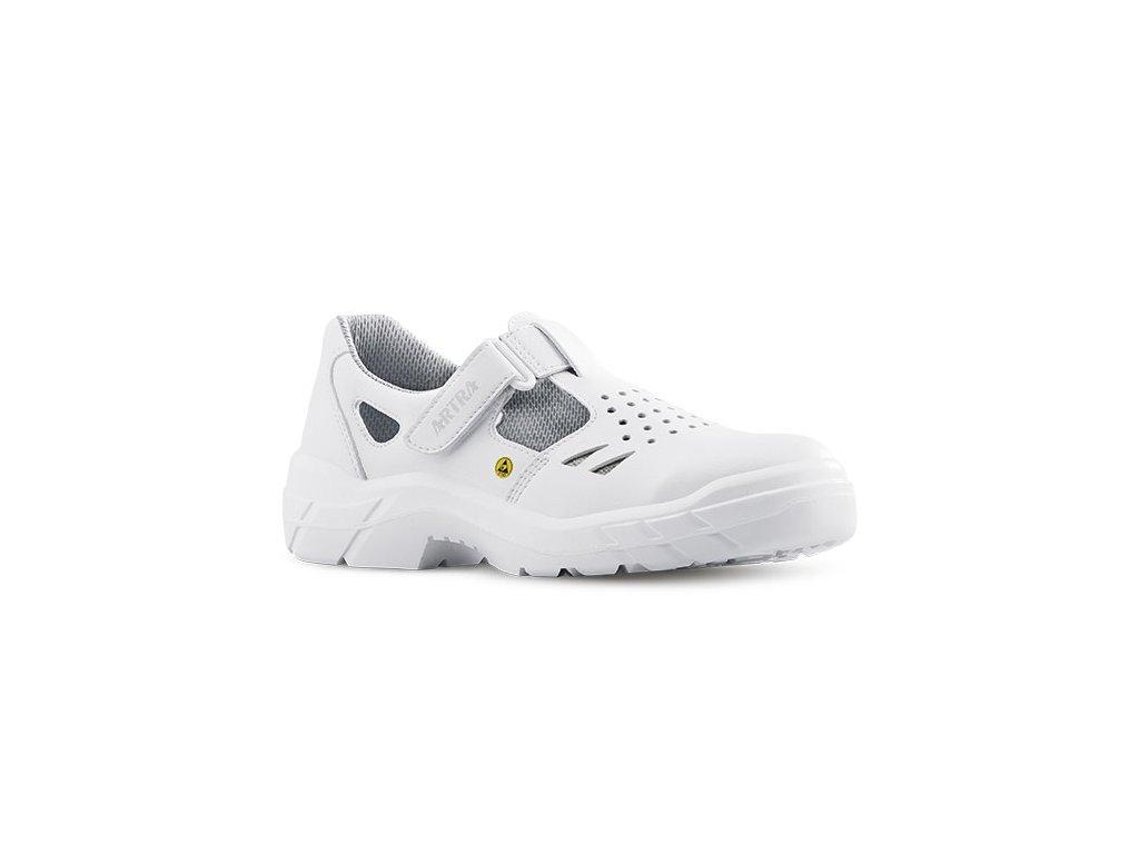 Biele pracovné ESD sandále bez oceľovej špičky ARMEN 900 1010 O1 FO SRC ESD