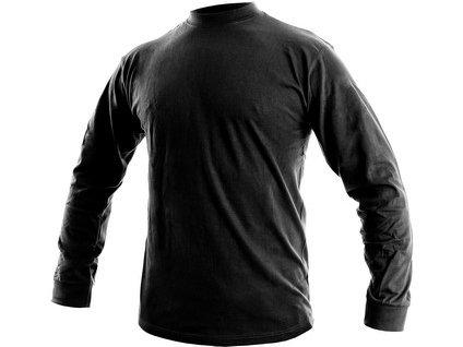 Pánske tričko s dlhým rukávom PETR, čierne, veľ. S