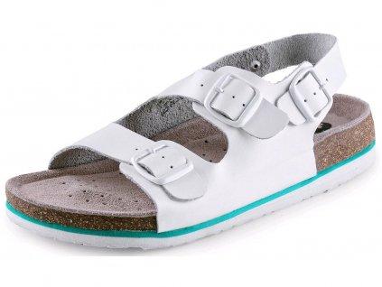 CXS CORK MEGI sandále s opaskom, biele