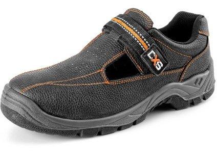 CXS STONE nefritu O1pracovné sandále, čierne