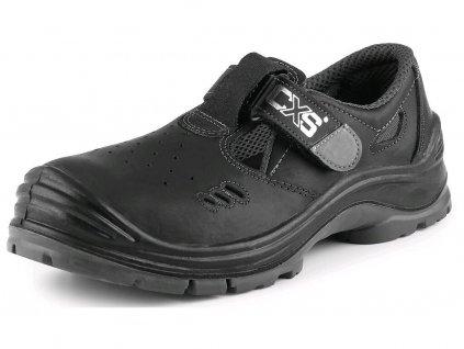 CXS SAFETY STEEL COPPER O1 obuv sandál , čierna