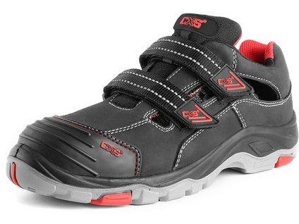 Kožené bezpečnostné sandále s oceľovou špičkou CXS ROCK syenit S1