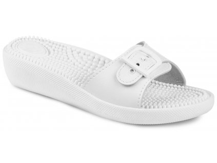 Biele dámske šľapky ARTRA - 100