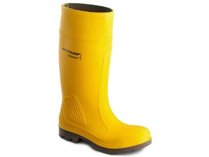 Žlté bezpečnostné čižmy s oceľovou špičkou  DUNLOP PUROFORT YELLOW C462241 S5 CI