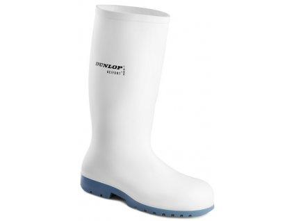 Biele bezpečnostné gumáky s oceľovou špičkou DUNLOP ACIFORT CLASSIC A671311 SB