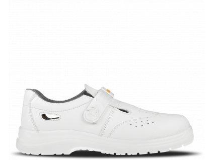 Biele bezpečnostné sandále so špičkou BENNON WHITE S1 Z31081