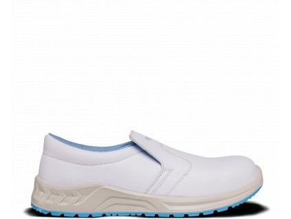 Biela bezpečnostná obuv so špičkou BENNON WHITE S2 Moccasin Z32184