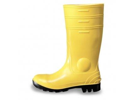 žlté gumené čižmy NORA UVEX