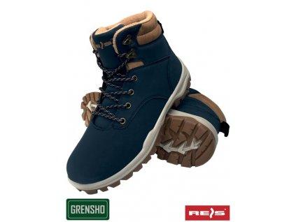 zateplená obuv REIS modrá
