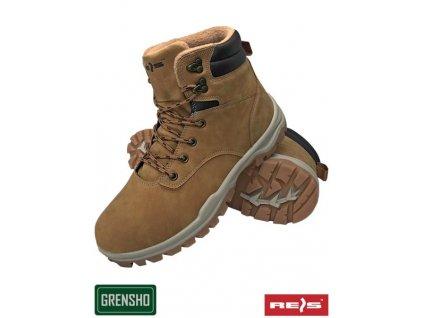 Dámska zateplená pracovná obuv hnedá