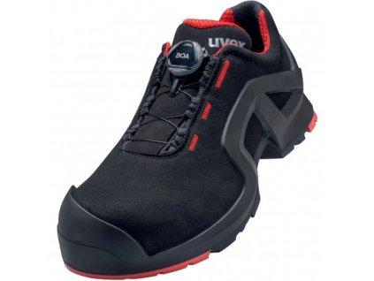 UVEX obuv poltopánky červeno čierna
