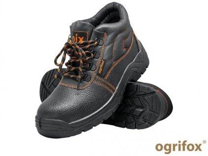 členková pracovná obuv čierna