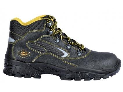 Členková bezpečnostná obuv s oceľovou špičkou a bezpečnostnou medzipodrážkou  COFRA  NEW EUFRATE S3 SRC : TALIANSKÁ VÝROBA