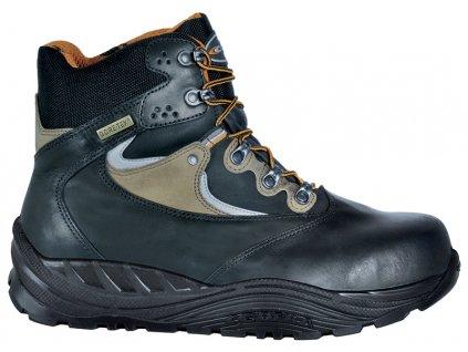 d655b092b Zimná členková pracovná obuv s odľahčenou plastovou bezpečnostnou špičkou a  planžetou proti prepichnutiu podrážky COFRA DHANU