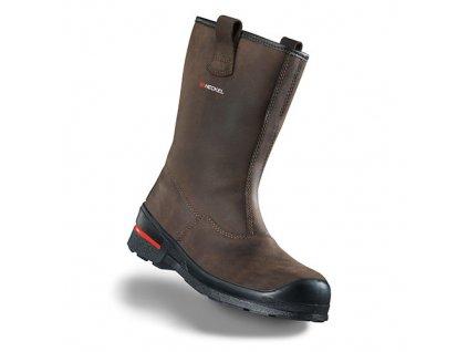 Vysoká kožená bezpečnostná obuv HECKEL MACSOLE 1.0 BFX 1 6264004