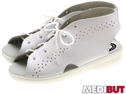 Pracovná obuv biela značky MEDIBUT :BMPROFI