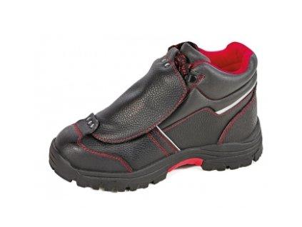 Členková bezpečnostná zváračská obuv s oceľovou špičkou a planžetou proti prierazu STEELER METATARSAL ANKLE S3 HRO