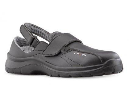 Čierne pracovné sandále  ARIA 604 6660 OB A E FO SRC