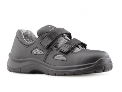 Čierne pracovné sandále bez oceľovej špičky  ARIES 8006 6660 O1 FO SRC
