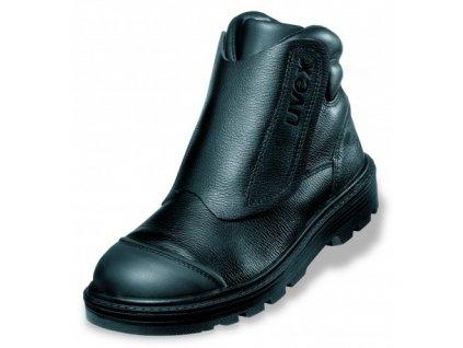 Zváračská bezpečnostná obuv pre profesionálne využívanie s bezpečnostnou špičkou UVEX ORIGIN 8463 S2 CI HI HRO SRC