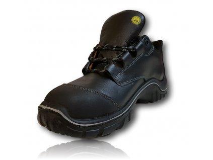Bezpečnostná pracovná obuv v pevedení poltopánok s odľahčenou kompzitnou špičkou UVEX MOTION LIGHT 6985 S2 SRC bočný pohľad z vnutornej strany obuvi