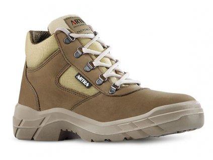 Členková pracovná obuv s oceľovou špičkou od výrobcu ARTRA v modelovom prevedení  ARCHA 942 5656 S2 SRC