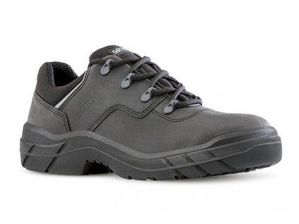 Čierna pracovná obuv z brúsenej kože ARTRA v modele ARAL 927 6860 O2 FO SRC
