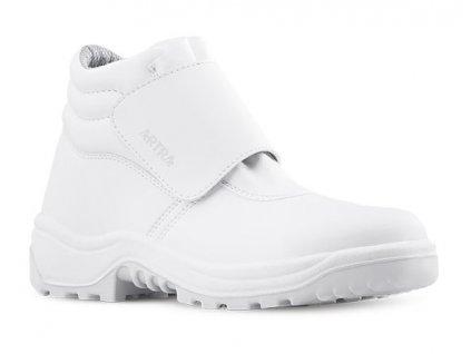 Biela členková pracovná obuv ARTRA model ARAFUR 944 1010 O2 CI FO SRC